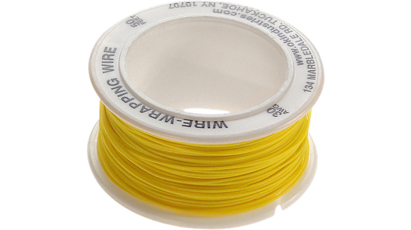 R 30y 0050 Wire Wrap Wire 005 Mm² Yellow 15 M Ok Industries