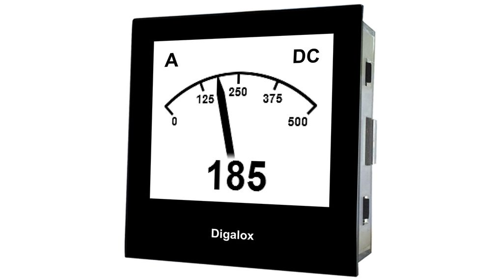 Köp Graphical DIN panel meter, Digalox, USB, 0/4...20 mADC, 60 mVDC