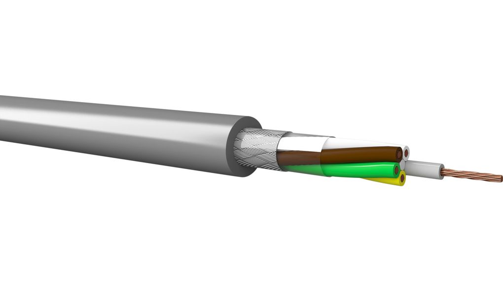 Köp Control Cable 7x 0.5mm² FRNC Shielded 100m Grey