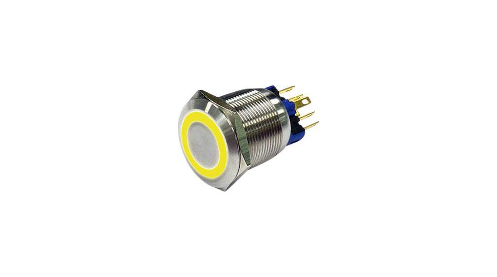 Köp Anti-Vandal Push-Button Switch, Yellow, Momentary Function, 22 mm, IP 65