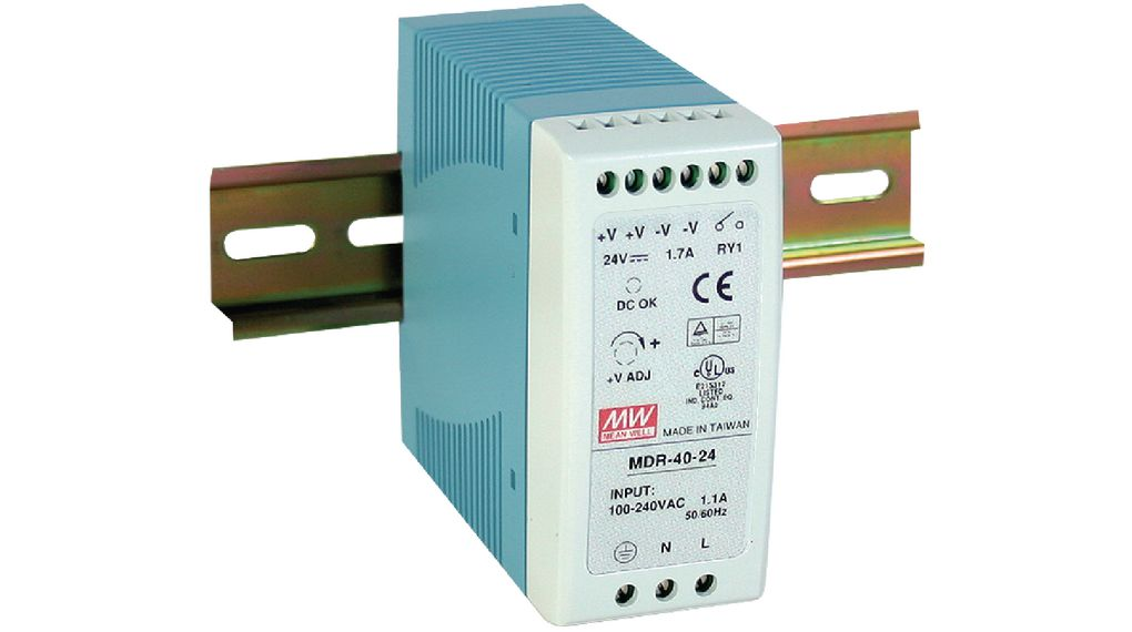 Köp DIN Rail Power Supply, 24V, 2.5A, 60W, Adjustable