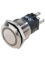 Pushbutton illuminated Roestvrij Staal 22 mm 250 VAC 3 A 1 change-over (CO) Köp {0}
