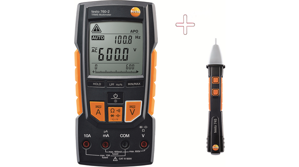 Testo digitale multimeter + contactloze spanningstester
